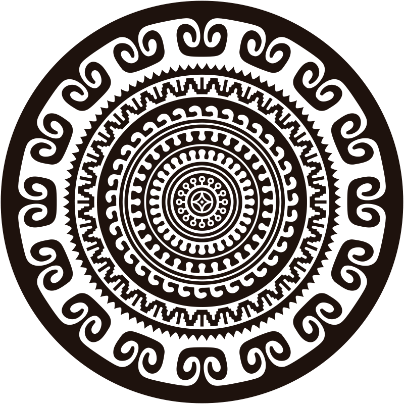 TenStickers. Black and white mandala circular vinyl rug. Add an ethnic touch to your decor with this sublime white and black mandala vinyl rug that will look great in any decor.