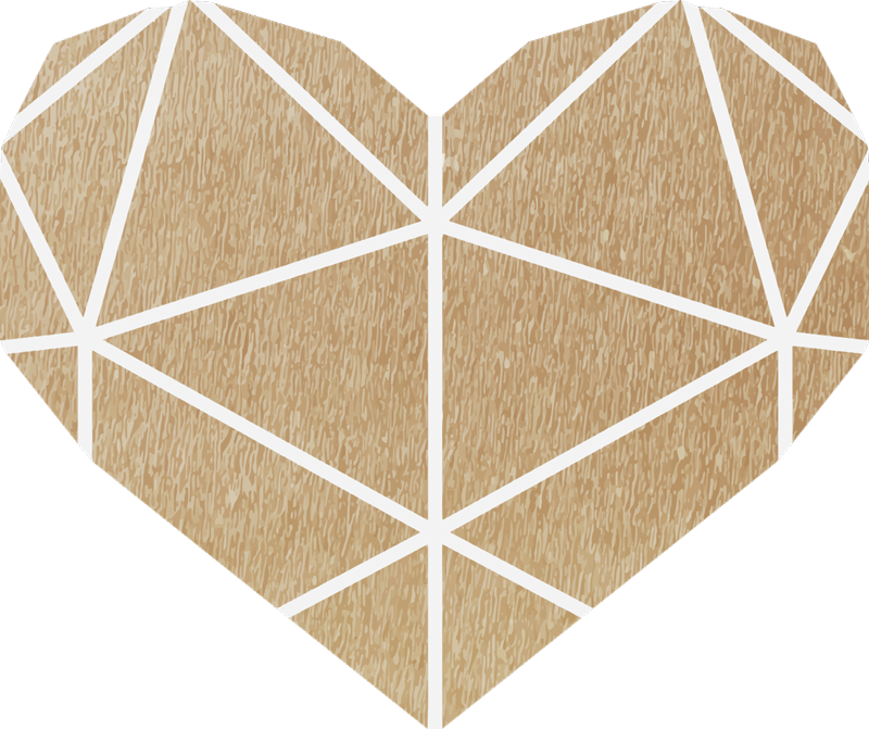 TenStickers. Beige heart geometric vinyl carpet. If you are looking for an original rug, don't look further, this beige geometric vinyl rug in a heart shape is perfect for you!