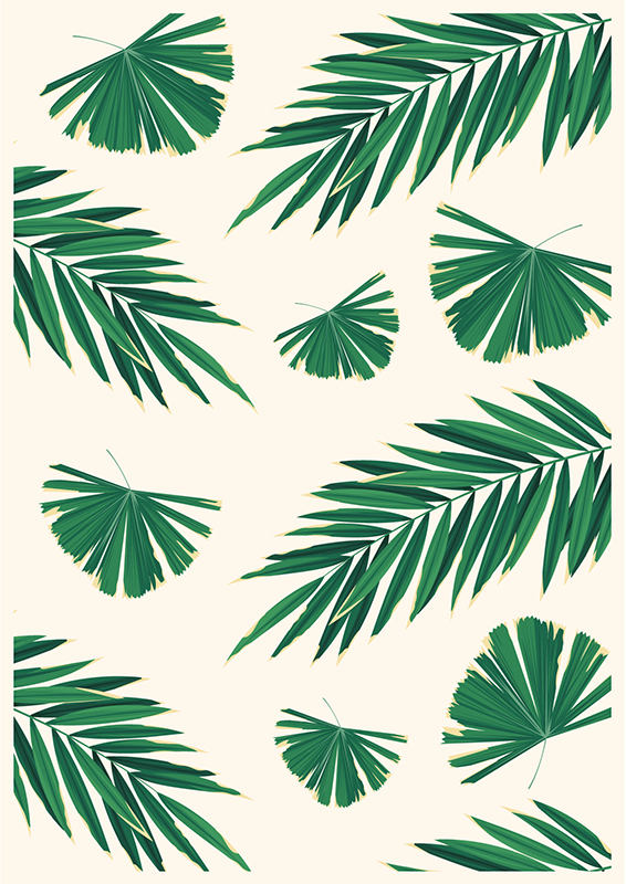 TenStickers. Rugs with plants bedroom vinyl rug. Bedroom special rectangular vinyl rug with plant patterned prints to transform a space with class. It is easy to use and maintain.