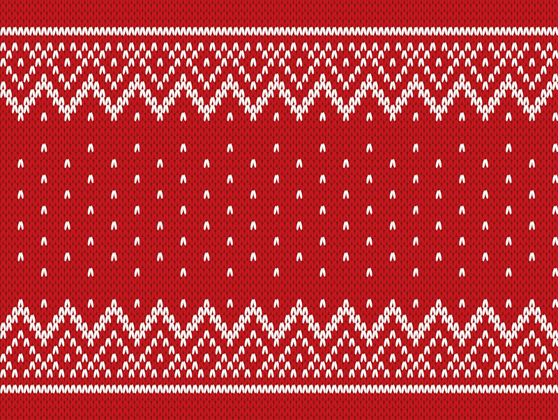 TenStickers. Christmas typical poattern living room rug. Pattern red rectangular vinyl carpet. The design has tree pattern design that depicts Christmas. Made from high quality material and easy to maintain.