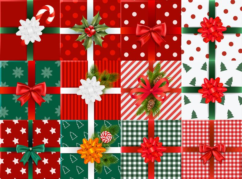 TenVinilo. Alfombra vinilo dormitorio cajas de regalo. Alfombra de vinilo para habitación con cajas de regalo para decorar tu casa en esta época navideña. Elige medidas ¡Envío a domicilio!