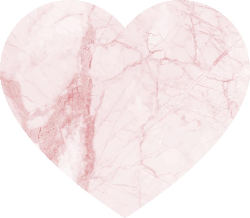 TenStickers. Covor textura inima marmura. Covor minunat de vinil cu temă de dragoste cu textură de marmură care va arăta remarcabil în casa ta. Material extrem de durabil.