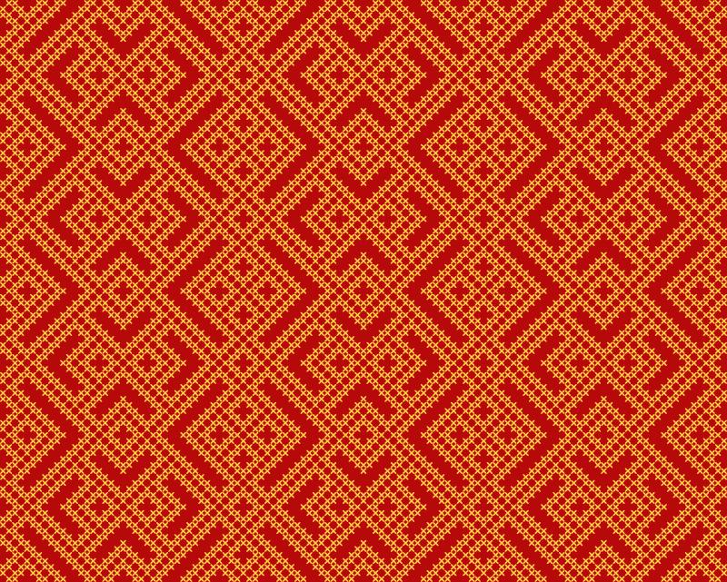Tenstickers. Slaavilainen koristekuvio Tekstuuri vinyylimatto. Upea punainen matto, jonka päälle on painettu slaavilainen koristeellinen muotoilu. Valmistettu erittäin korkealaatuisista materiaaleista. Toimitus maailmanlaajuisesti.