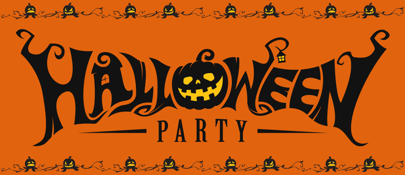 TenStickers. Hallowen party vinyl rug. Invite your guest and friends home for Halloween festival party and have them enjoy party on this orange pumpkins Halloween party vinyl rug.