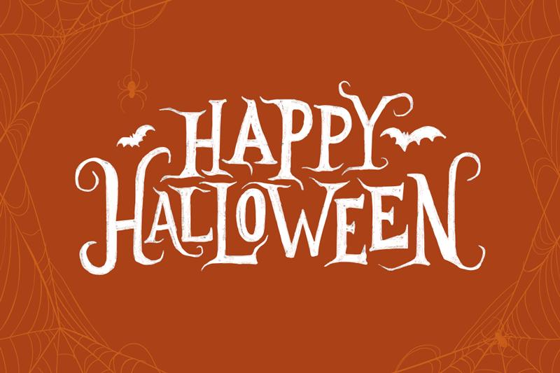 TenVinilo. Alfombra vinilica rectangular Feliz halloween. Alfombra vinilica comedor rectangular color café con el texto '' feliz halloween ''. Perfecta para la noche más terrorífica ¡Envío a domicilio!
