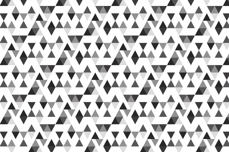 TenStickers. Black and white triangles geometric vinyl carpet. Pattern geometric triangle vintage vinyl carpet made in white and black color.  A decorative element to improve your space in a great and original way.