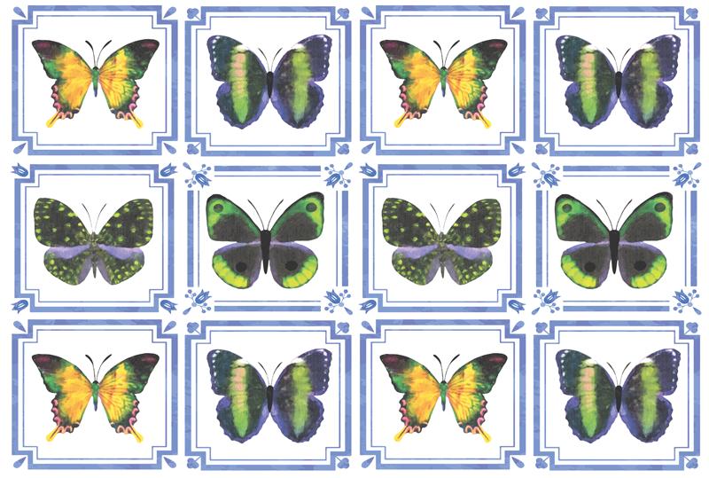 TenStickers. Plăci fluture colorate covor animal. Covor minunat cu plăci de vinil cu fluture, care va arăta incredibil în casa ta! Reduceri disponibile astăzi pe site-ul nostru.