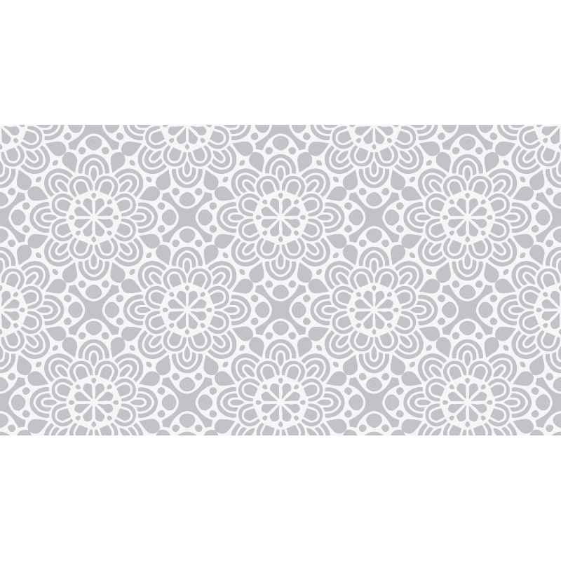 Tenstickers. Vitgrå blommiga former samtida mattor. Modernisera ditt hem med en blommig vinylmatta som gör alla dina gäster avundsjuka. Rabatter tillgängliga på vår webbplats.