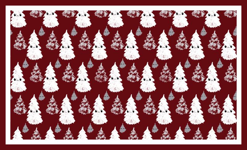 TenStickers. Vinyl vloerbedekking rood Kerstboom . Een vinyl tapijt met kerst thema dat deze feestdagen zo vrolijk zal maken. Kortingen die beschikbaar zijn wanneer u zich aanmeldt op onze website.