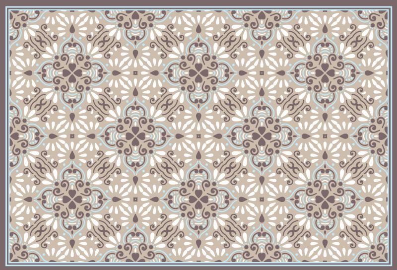TenStickers. Covor bej mozaic alb mozaic din vinil. Covorul mozaic din vinil perfect pentru orice cameră din casa ta! Cu zero reziduuri la îndepărtare și un aspect perfect de fiecare dată.