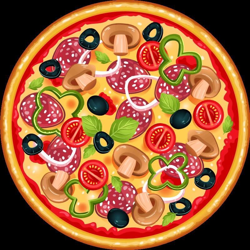 TenStickers. Italya pizza yuvarlak paspas. Oh! Pizza severler için ne harika bir ikonik yemek vinil halısı. Pizza sevginizi yansıtacak bir tasarım, gerçekçi bir görünümde tasarlanmıştır.