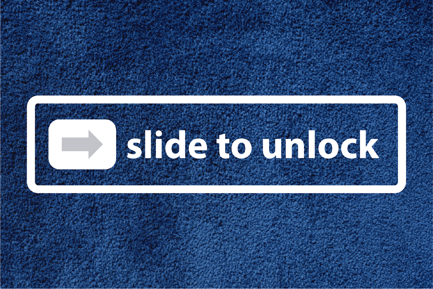 TenStickers. slide to unlock bespoke rugs. A wonderfully quirky text vinyl rug that is just perfect for your front door step! All your neighbours will be so jealous.