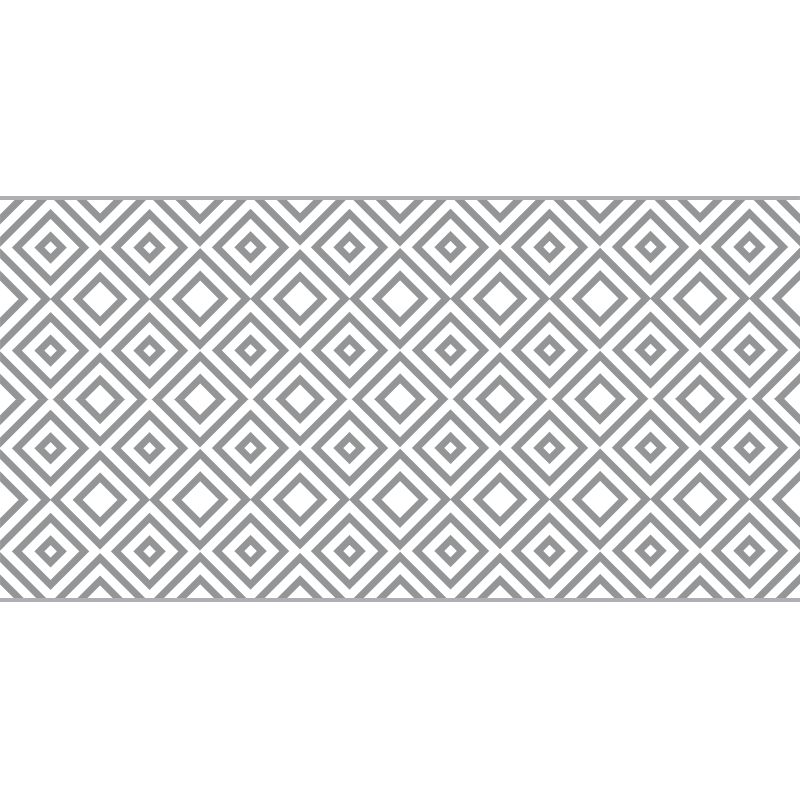 Tenstickers. Panorama grå firkanter moderne vinylteppe moderne tepper. Vinylteppe med grå firkanter, perfekt dekorasjon for salongen din. Laget av vinyl av høy kvalitet og lett å oppbevare og rengjøre. Sjekk det selv!