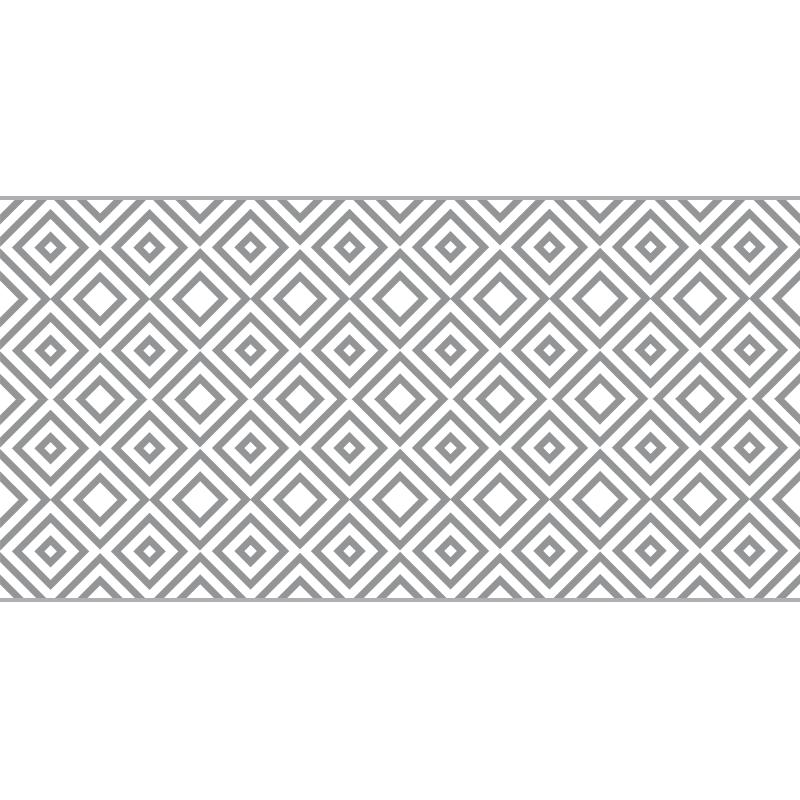TENSTICKERS. パノラマグレースクエアモダンビニールラグコンテンポラリーラグ. グレーの四角のビニールラグ、サロンにぴったりの装飾。高品質のビニール製で、保管と清掃が簡単です。自分でチェックしてください!