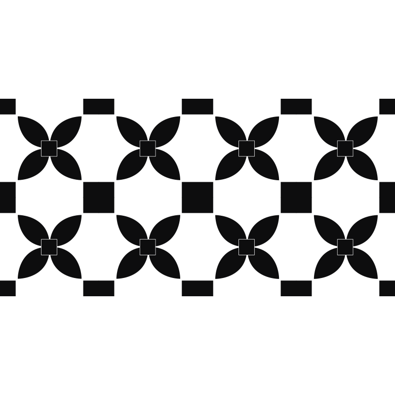 TenStickers. 黑色印花街头瓷砖效果乙烯基地毯瓷砖垫. 黑色和白色瓷砖的乙烯基地毯,非常适合以现代风格装饰厨房。易于清洁和储存。看看这个!
