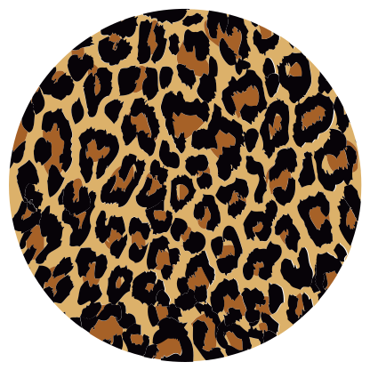 TenStickers. Covor rotund animal print animal print. Un covor de vinil cu imprimeu animal cu formă rotundă pentru toți cei care iubesc amprenta animalelor. Produsul este fabricat din material de înaltă calitate.