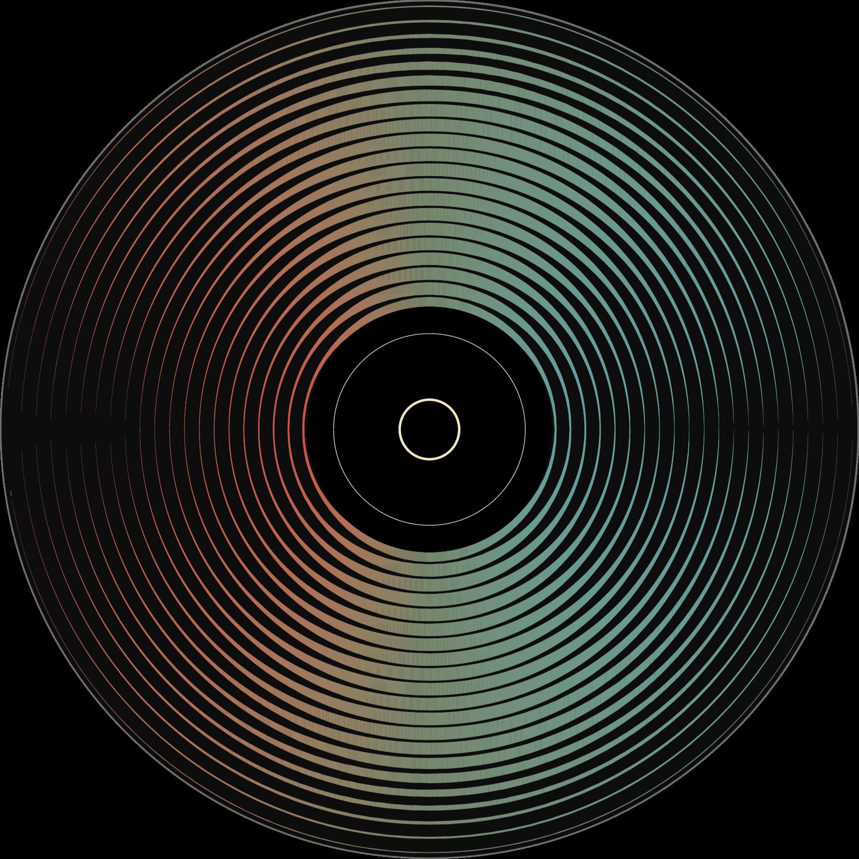 TenStickers. Lp record retro tapijt. Een kleurrijk LP record rond vinyl tapijt voor alle muziekliefhebbers om elke ruimte in u huis te decoreren met dit hoogwaardige product.