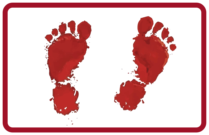 TenStickers. bloody footprints halloween mats. A halloween rug perfect for any home! Everyone will be so jealous of your amazing decorations. Choose the perfect size for you.