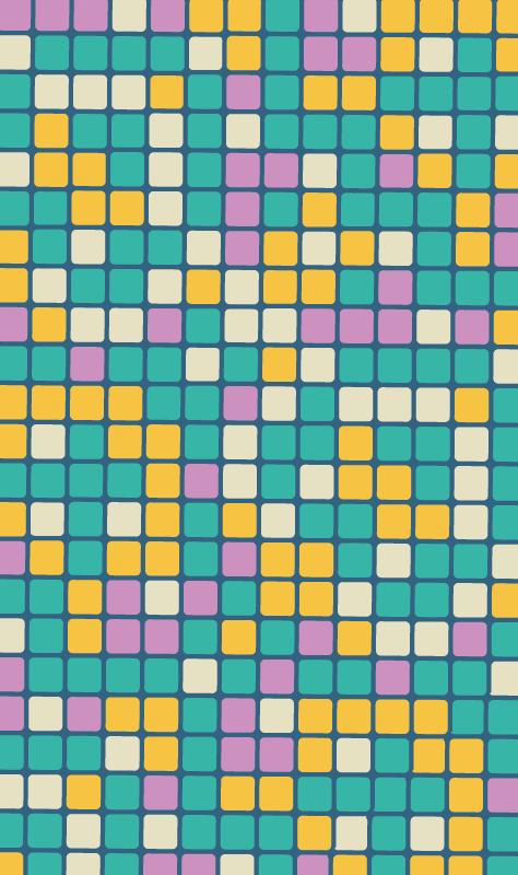 TenStickers. Vinyl vloerbedekking Meer Kinderen Kleurrijke vierkante vormen. Voeg kleur toe aan uw huis met een prachtig geometrisch vinyl vloerkleed dat in elke kamer perfect zal staan! Kies u maat en begin met decoreren.