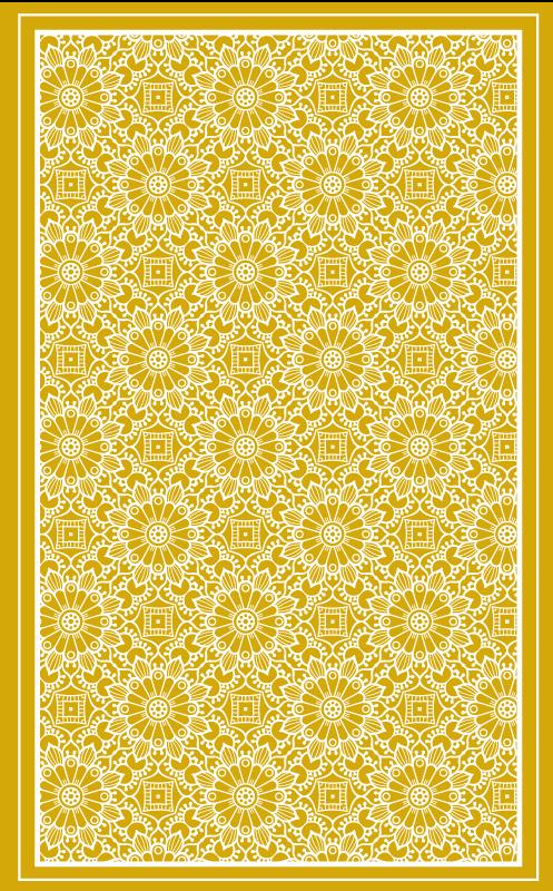 TENSTICKERS. ヴィンテージシェイプイエローレトロラグ. あなたの台所で素晴らしく見える黄色い模様のビニールの敷物!非常に長持ちする素材と非常に耐久性のある素材。