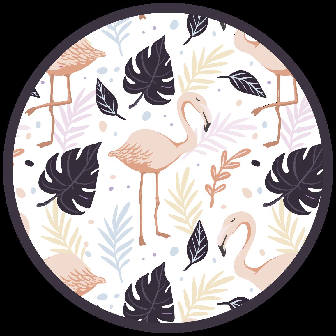 TenVinilo. Alfombra vinilo animales pájaros y palmeras. Bonita alfombra vinilo animales con estampados de animales perfecta para poner en la cocina o incluso en el baño ¡Envío exprés!