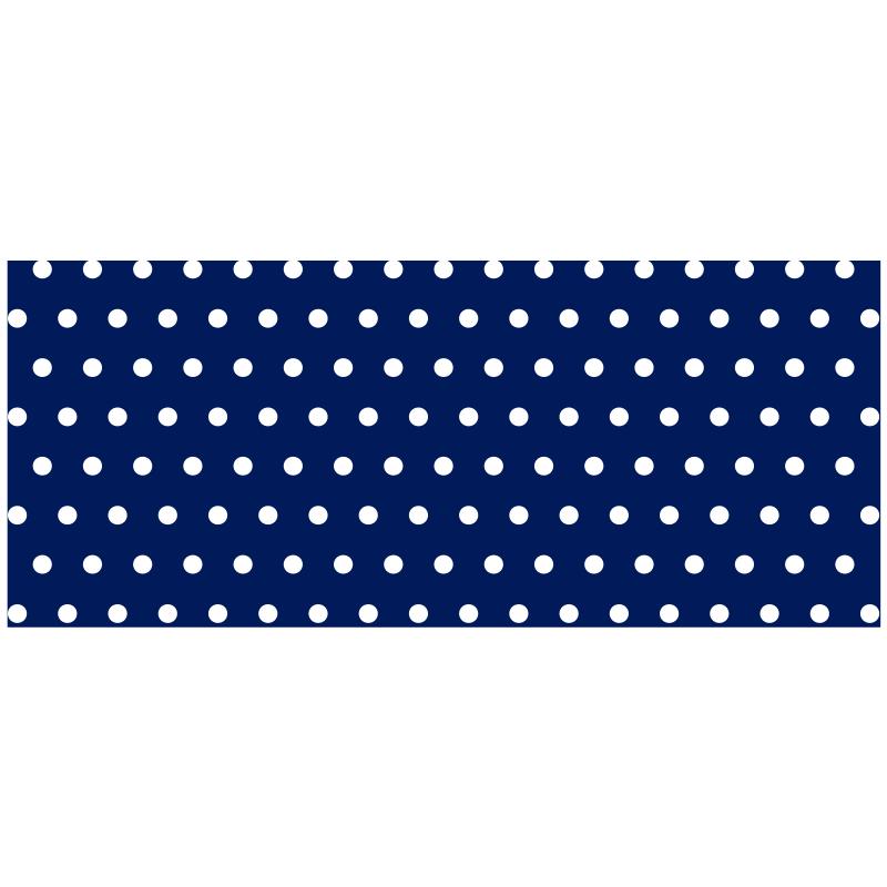 TenVinilo. Alfombra vinilo azul con puntos blancos. ¡Una alfombra vinílica de lunares increíble que se verá maravillosa en cualquier habitación de tu hogar! Elige las medidas ¡Envío express!