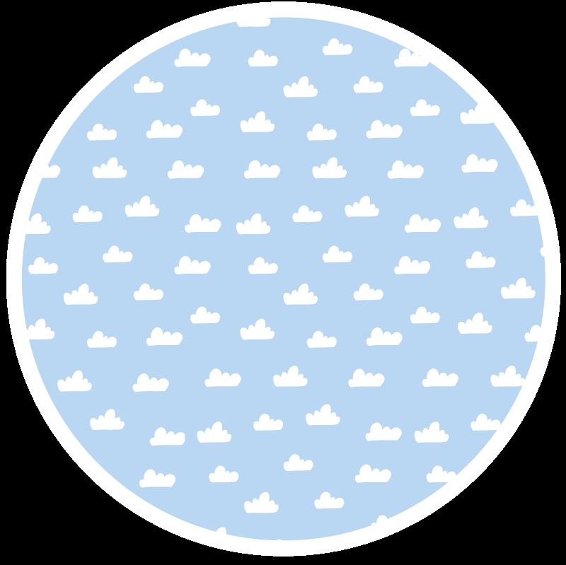 TenVinilo. Alfombra vinilo infantil azul con nubes. ¡Esta alfombra vinilo infantil azul con nubes y de forma redonda será perfecta para tu hogar! Producto de alta calidad ¡Envío exprés!