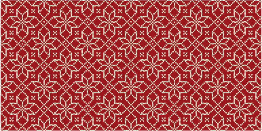 TenStickers. Red and White Snowflake Christmas rug. Christmas vinyl rug which features an elegant pattern of white snowflakes on a red background. Various sizes are available.