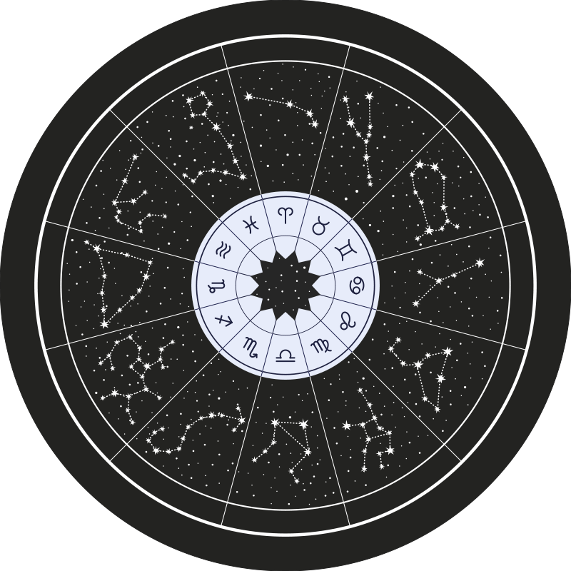 TenStickers. zodiac black laminate flooring. An original zodiac signs and its constellations round vinyl rug on black background to give your house an original and perfect touch.