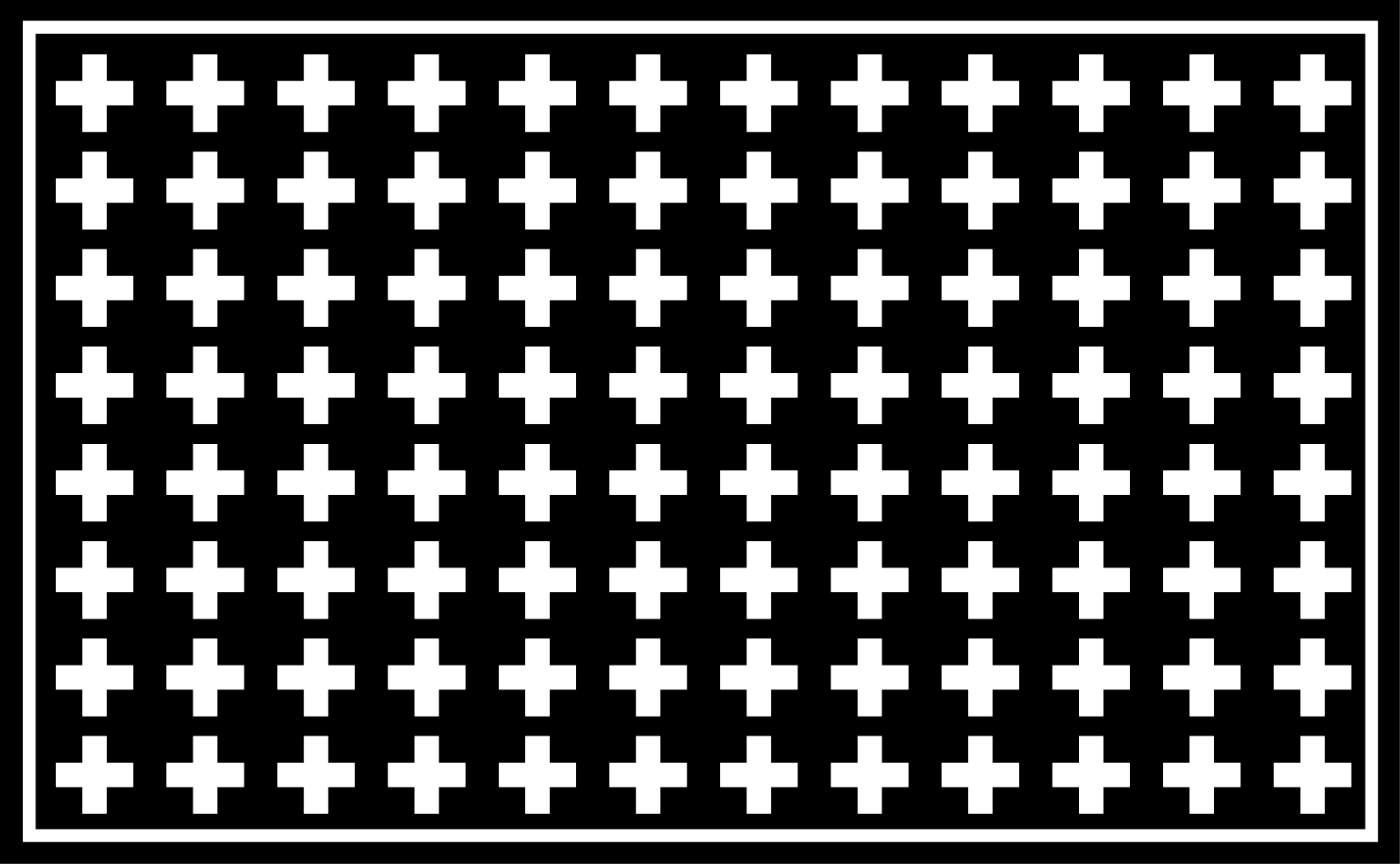 TenStickers. White and Black Cross minimalist carpet. An original but simple black and white crosses vinyl rug to make your house look stunning. High quality product delivered to your house.
