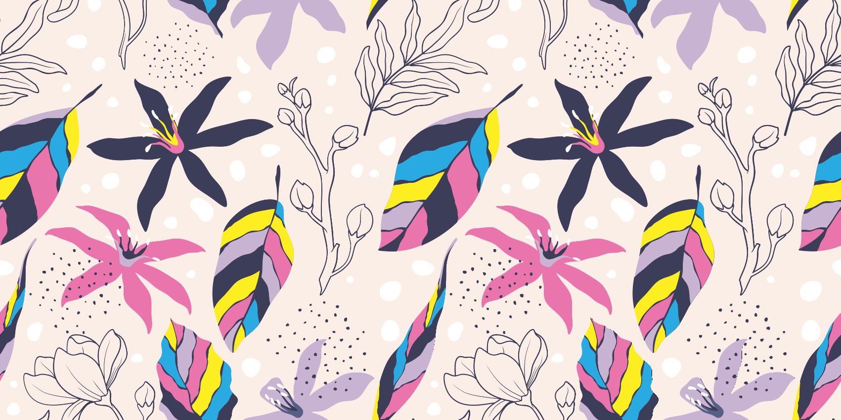 TenStickers. Dywan winylowy Magia kwiatów. Ten dywan kwiatowy materiał winylowy jest tym, czego rozpaczliwie szukałeś. Ten produkt może być dostępny w naprawdę śmiesznej cenie.