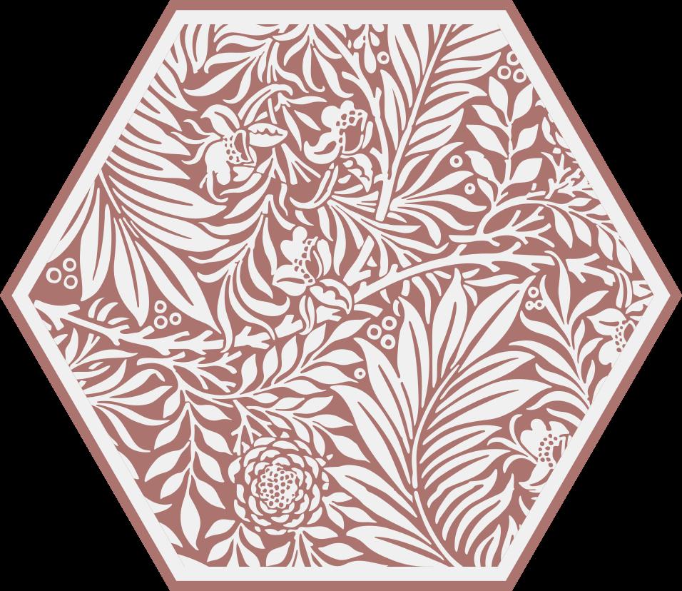 TenStickers. Moderne vinyl tapijt Grijs ornament. Bewonder de unieke schoonheid van deze verbazingwekkende moderne planten vinylvloer met grijze ornamenten! Het is gemaakt van echt hoogwaardig materiaal.