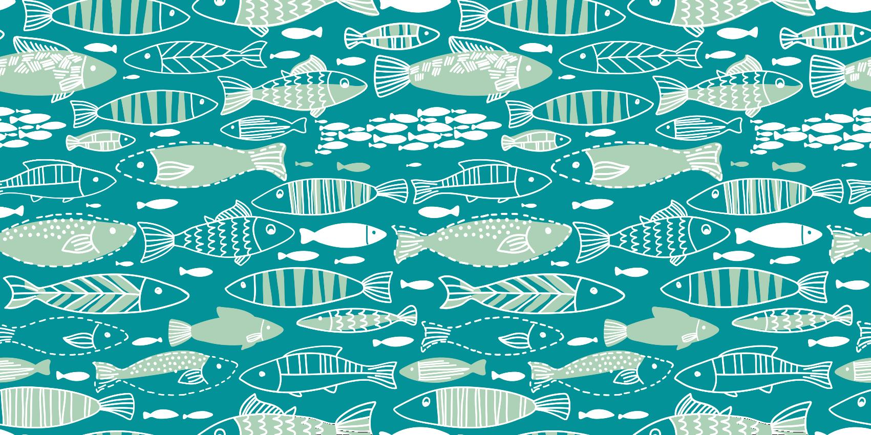 TENSTICKERS. 抽象的な水族館の動物マット. 彼らの家を改装したいすべての魚愛好家のために。あらゆるスペースにユニークなタッチを備えた高品質で耐性のある製品。
