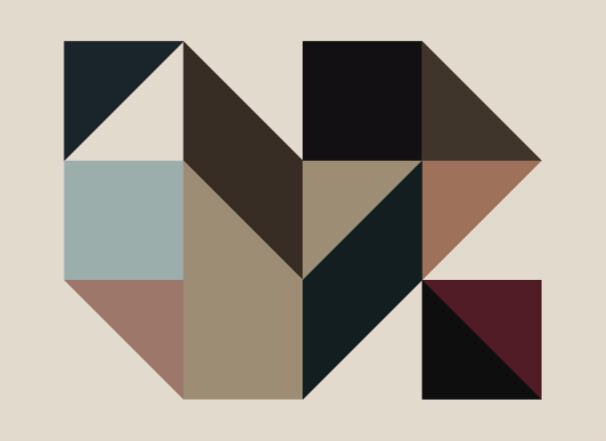 TenVinilo. Alfombra vinílica geométrica triángulos nórdicos. Admire la belleza única de esta alfombra vinílica salóncon colores y formas geométricas para decorar tu casa. Elige medidas ¡Compra online!