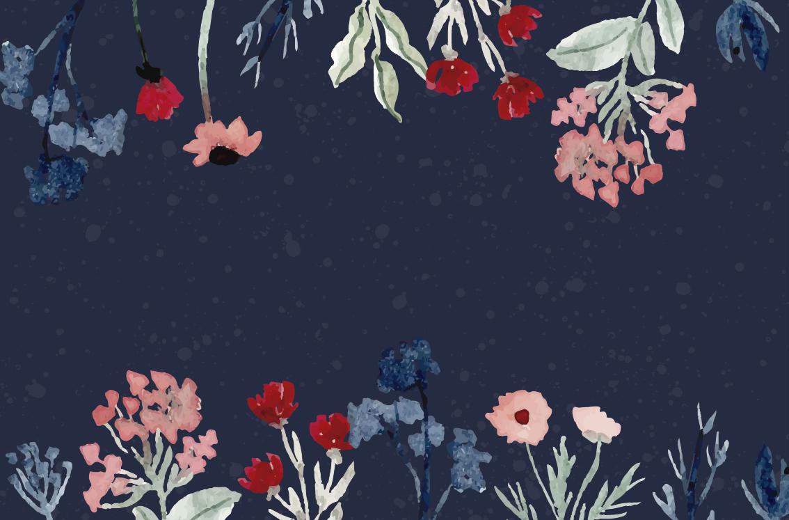 TenStickers. Tapete de vinil flores vintage no fundo escuro tapete retrô. Um lindo e elástico vinil vintage floresce no tapete de fundo escuro para a casa de todos. Compre em qualquer tamanho para cobrir um chão bonito.