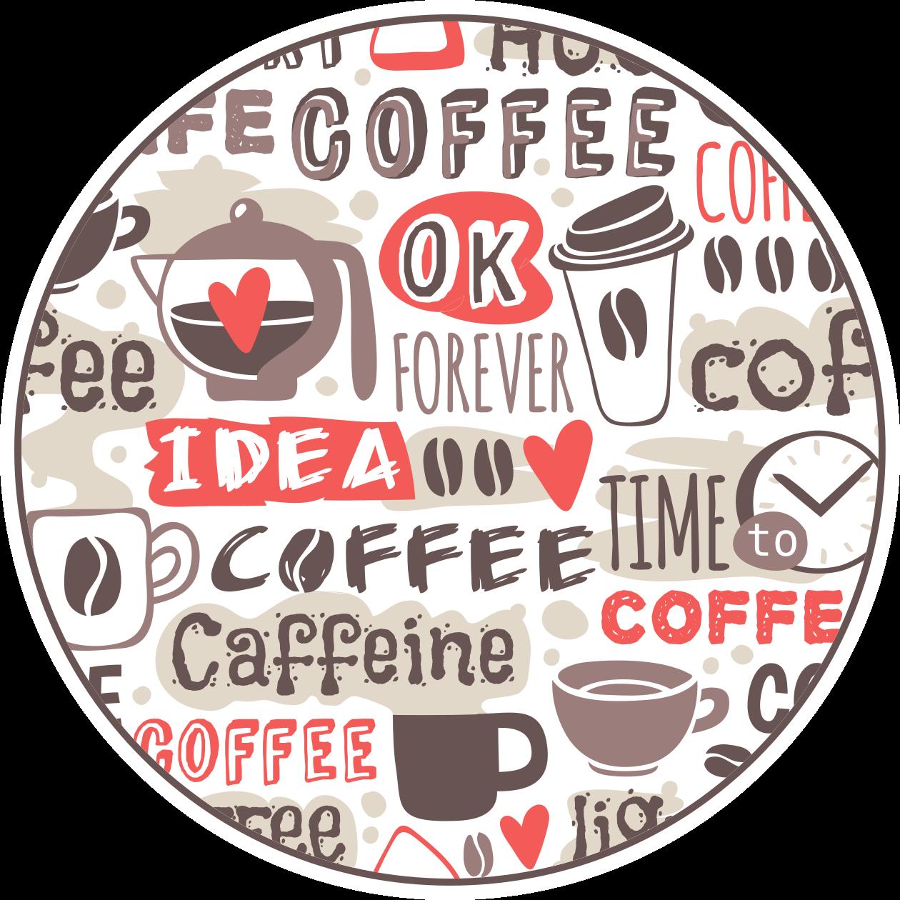 TenVinilo. Alfombra vinilo cocina textos de café. Alfombra vinilo cocina con temática de café que presenta varios textos relacionados con el café, incluidos 'café' ¡Envío a domicilio!