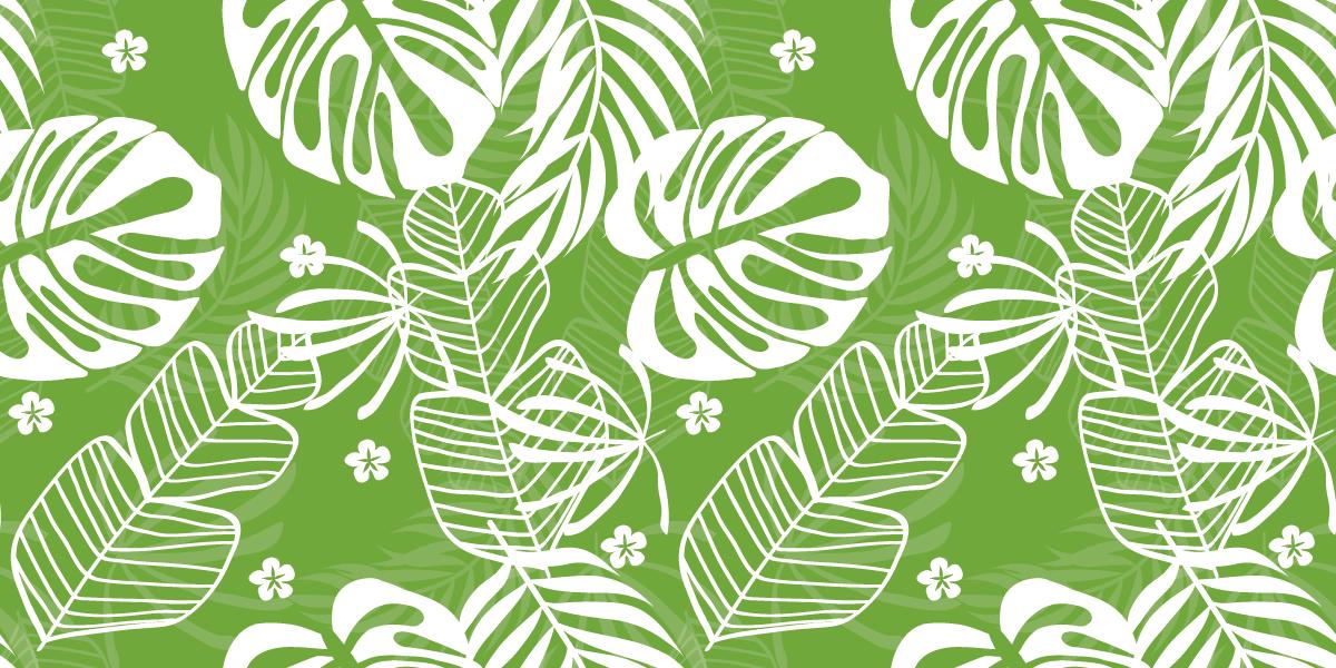 Tenstickers. Monstera bladmønster naturteppe. Dette bladvinylteppet har et grønt og hvitt mønster av monstera aka swiss cheese plant. Tilgjengelig i mange forskjellige størrelser!