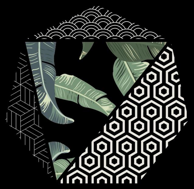 TenStickers. Frunze verzi și covoare geometrice cu model geometric. Decorați fiecare cameră din casa dvs. Cu frunze extravagante de vinil verde și design geometric. Acest covor de vinil este perfect pentru tine.