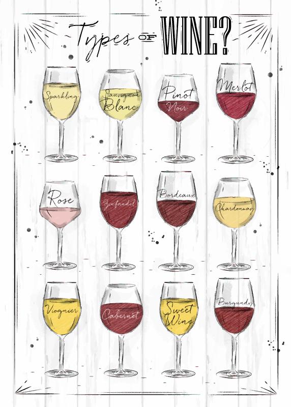 TenStickers. Dywanik winylowy Kieliszki wina na białym tle. Biały dywan winylowy z winem to idealna dekoracja Twojej kuchni. Wykonany z wysokiej jakości winylu, odpornego na czynniki zewnętrzne.