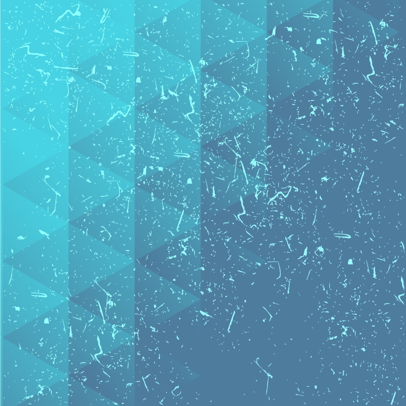 TenStickers. Niebieski dywan z trójkątnych płytek. Niesamowita niebieska podłoga winylowa w stylu vintage z różnymi odcieniami niebieskich trójkątów. Jest łatwy do czyszczenia i antypoślizgowy.