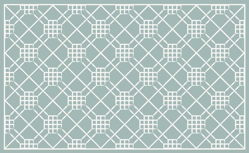TenStickers. Hydraulische tegels vinyl vloerbedekking Onregelmatige geometrie. Tegels stijl vinyl tapijt om de vloer van uw keuken te versieren en het een exclusieve maar originele stijl te geven. Het is antislip en duurzaam.
