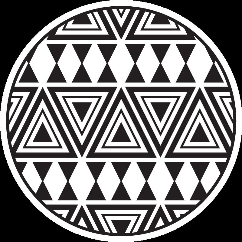 Tenstickers. Edgy diamanter moderne tepper. Dette fantastiske antiskli teppet er utstyrt med forskjellige sorte trekanter på hvit bakgrunn. Det er lett å rengjøre og skli.