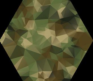 TenVinilo. Alfombra vinilo geométrica de camuflaje. Alfombra vinilo geométrica que presenta un estampado de camuflaje formado por triángulos para darle una sensación única ¡Compra online!