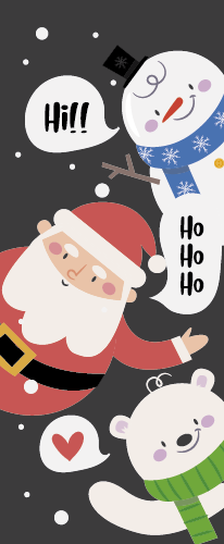 TenStickers. Peeping cartoon Christmas characters Christmas rug. What a better way of spending Christmas than making your kids happy with this Christmas characters vinyl rug to decorate their rooms.