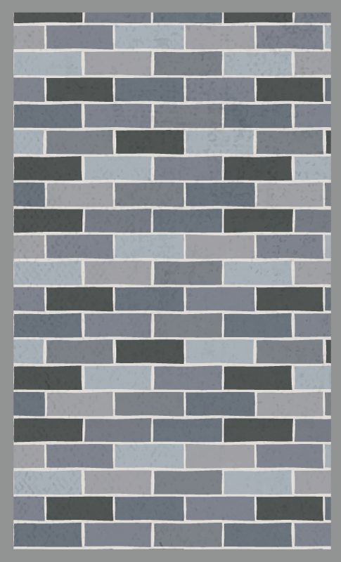 TenVinilo. Alfombra vinilo nórdica ladrillos grises. Este hermoso diseño de alfombra vinilo hidráulica presenta un patrón de ladrillos en diferentes tonos de gris ¡Compra online!