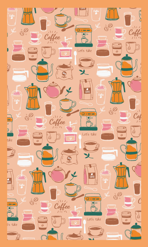 TenStickers. vinyl rug for kitchen coffee beans wood effect vinyl flooring. Vinyl rug with coffee beans, perfect as a decoration for your kitchen. Made of quality vinyl, shippeed right to your door.