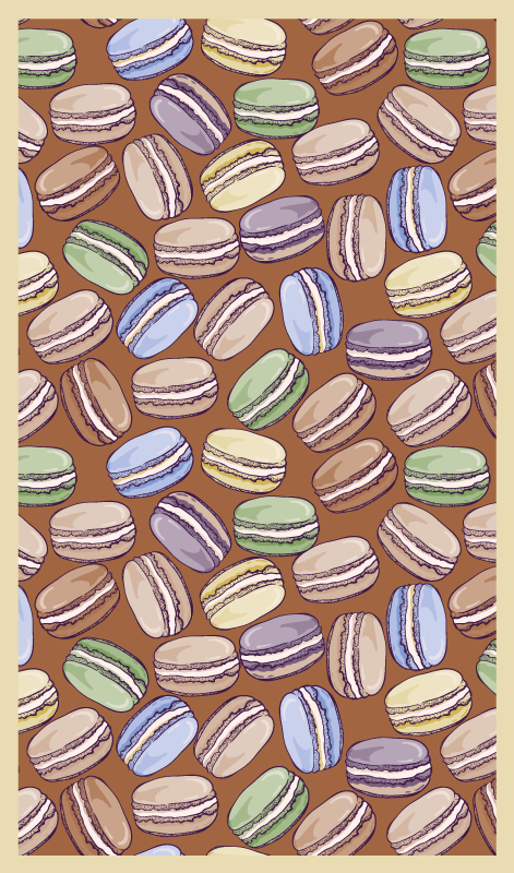 TenStickers. vinyl rug for kitchen macarons contemporary rugs. Vinyl rug with macarons. If you want to make your kitchen look more cute, we've got you covered. High quality product delivered right to your door!