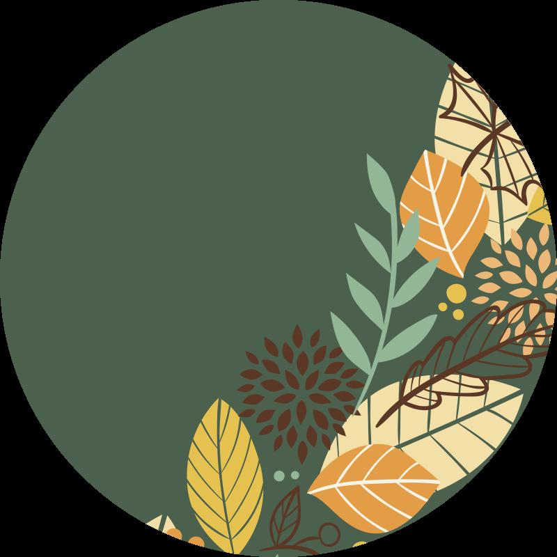 Tenstickers. Höstlövblommamatta. En underbar höstlöv rund vinylmatta är en fantastisk design för att dekorera ditt vardagsrum eller något utrymme i ditt hus med en högkvalitativ produkt.