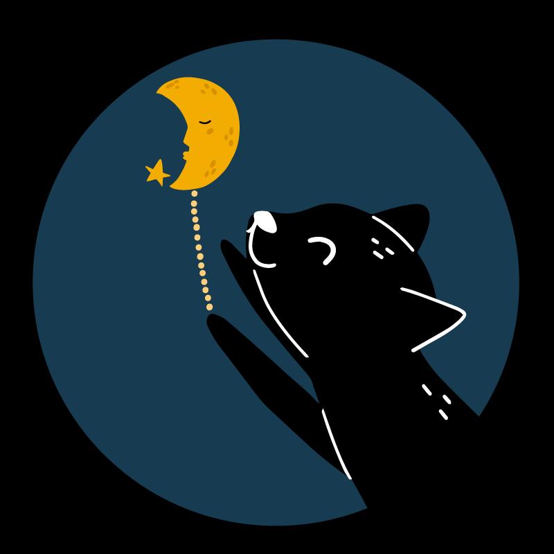 TenStickers. tapis vinyl forme animal Chat et une lune. Un incroyable tapis en sticker noir chat et lune pour rendre vos enfants heureux instantanément. Le tapis rond en sticker est parfait pour les enfants et il est facile à nettoyer.