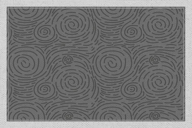TenVinilo.  Alfombra vinilo moderna remolinos grises. Este diseño de alfombra vinílica moderna presenta un hermoso patrón gris de remolinos y círculos únicos. Elige medidas ¡Envío exprés!